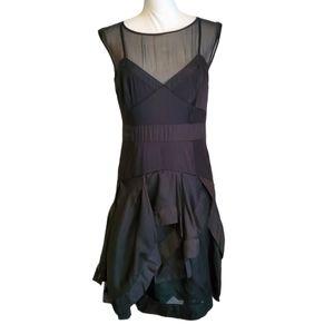 Karen Millen Silk Assymetrical Layered Skirt Dress